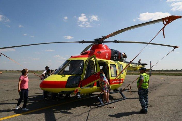 Астраханская санитарная авиация пополнилась новым вертолётом