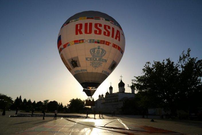 Аэростат «Россия» украсил астраханское небо