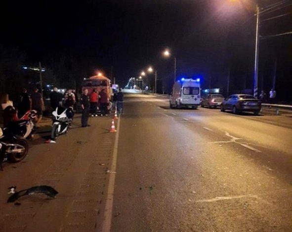 В Трусовском районе Астрахани на мотоцикле разбился Михаил Волобоев