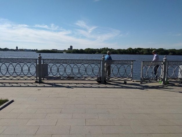 В центре Астрахани утонул рыбак