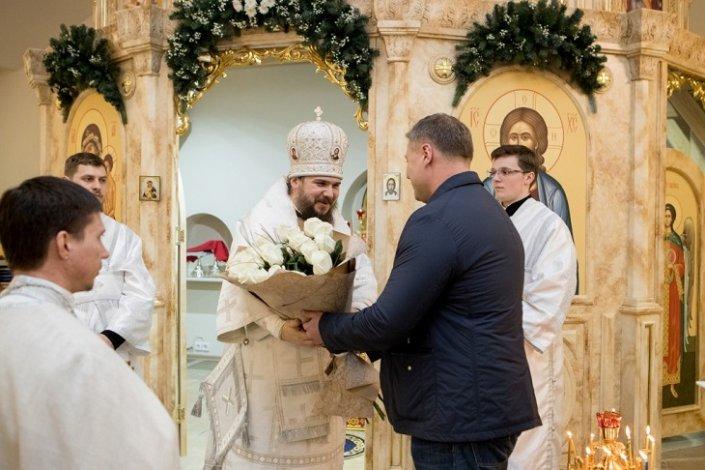 Астраханский губернатор встретил Крещение Господне в Ахтубинске