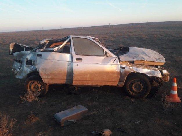 Под Астраханью опрокинулась «десятка»: пострадали двое