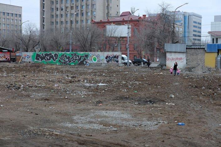 На месте бывшего рынка в Астрахани всё же откроют сквер