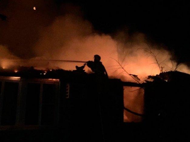 В Астрахани ночью случился крупный пожар