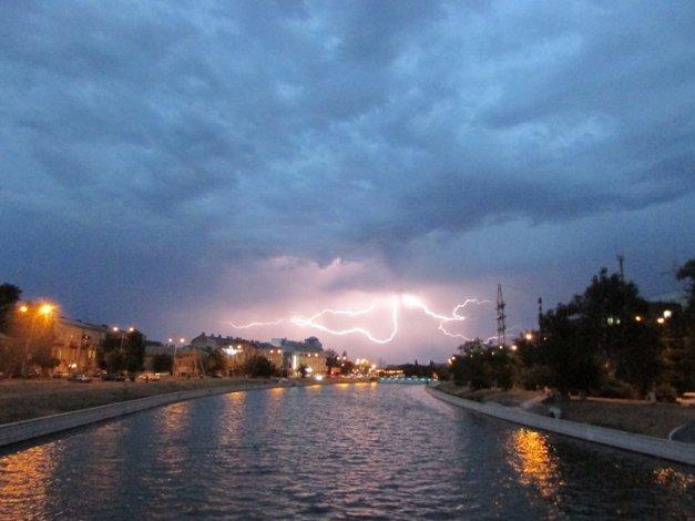 Последний день июня ознаменуется в Астрахани грозой