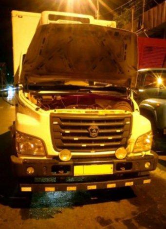 На День России в Астрахани горел грузовик