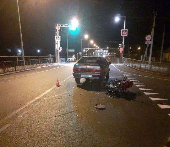В Икрянинском районе школьник на мотоцикле попал в аварию