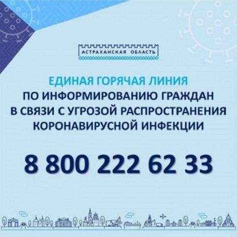 В Астрахани заработала единая горячая линия COVID-19