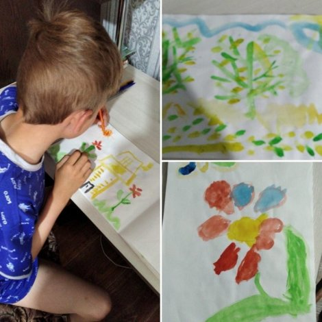 Маленькие астраханцы рисуют лето
