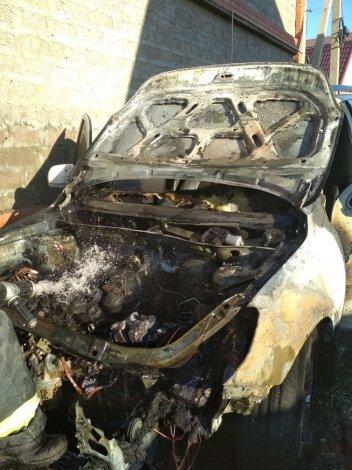 За сутки в Астраханской области сгорели два автомобиля и гараж