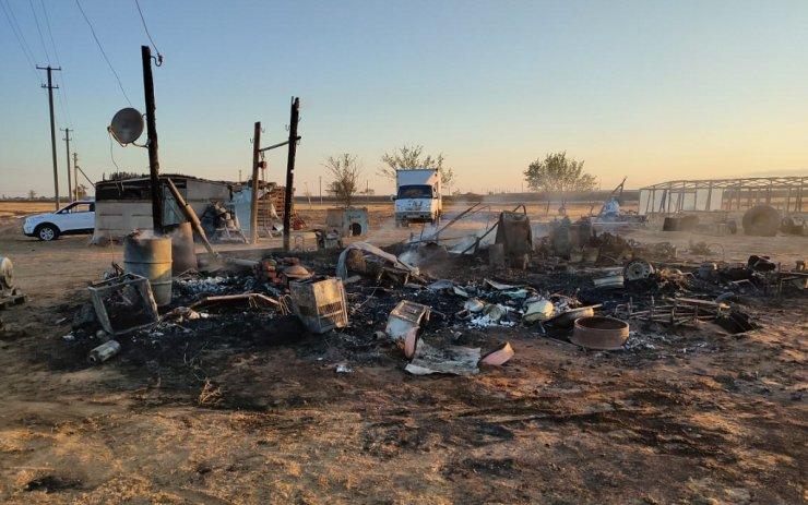 В Енотаевском районе при борьбе с пожаром погибла девушка