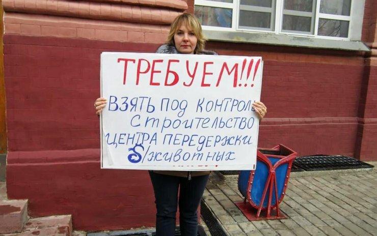 Астраханка потребовала от министра разобраться с собаками