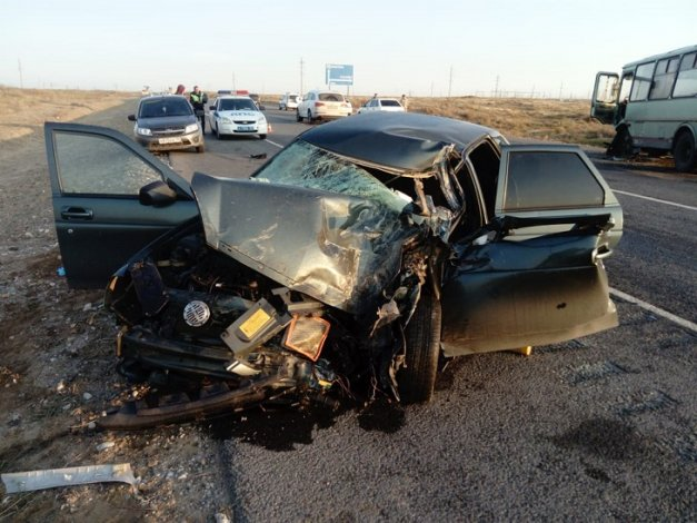 В Астраханской области произошла серьёзная авария
