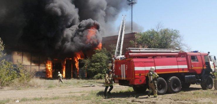 В бывшем трампарке Астрахани случился пожар