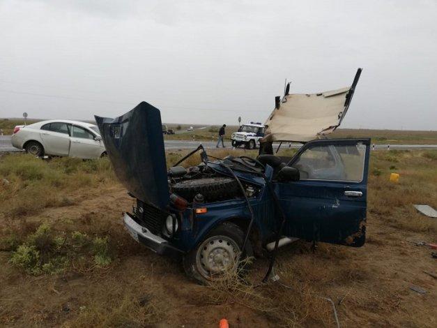 В Астраханской области произошла серьёзная автомобильная авария