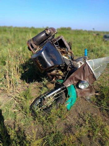 Пожилой мотоциклист найден под Астраханью без сознания