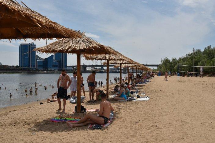 Впервые в Астрахани появился приличный пляж