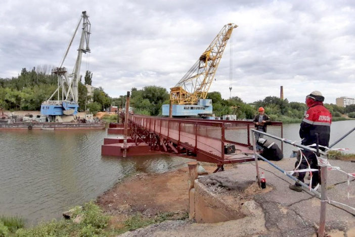 Новую переправу через Серебряную Воложку готовят к техническим испытаниям