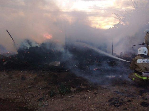 В Астраханской области совершён поджог