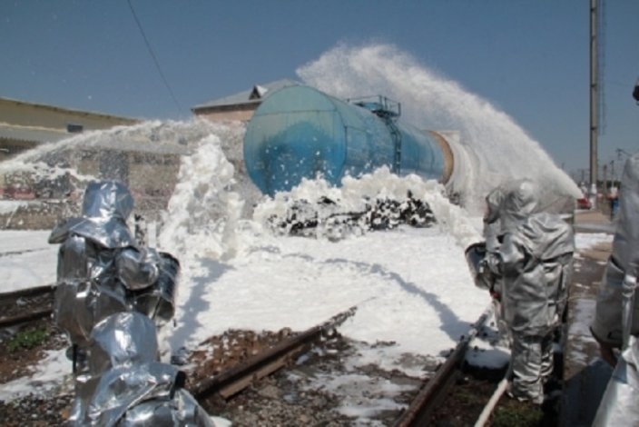 На железнодорожной станции Астрахань-1 прошли учения МЧС