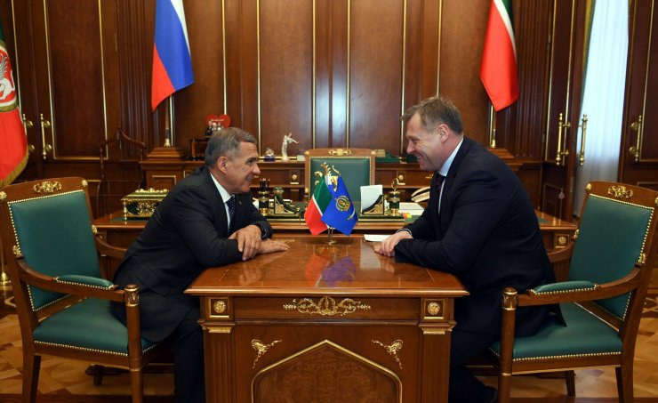 Астраханский губернатор встретился с президентом Татарстана
