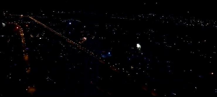 Все запущенные в новогоднюю ночь над Астраханью салюты попали на видео