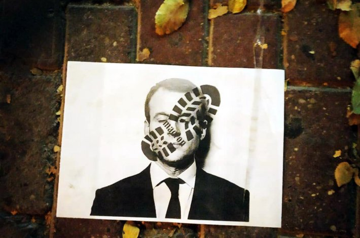 Астраханцы выражают протест против президента Франции Макрона
