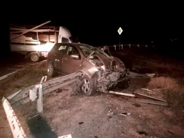 В ночном ДТП под Астраханью пострадали два человека